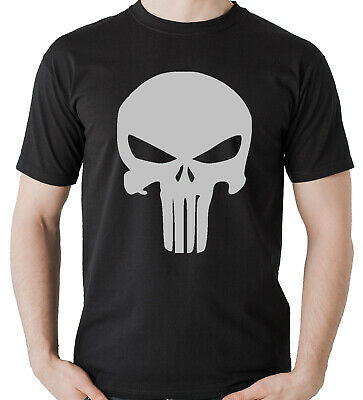 Camiseta The Punisher El Castigador Calavera Skull T-Shirt Hombre