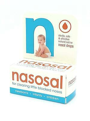Nasosal Nasal Drops for Baby Clearing Little Blocked Noses Childrens 0.9%, 10ml