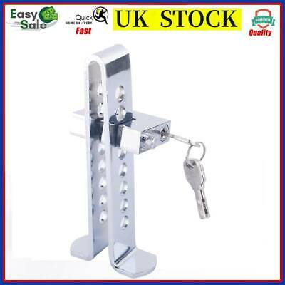 2 *8 Hole Stainless Steel Clutch Pedal Lock Car Wheel Brake Security Device 3Key