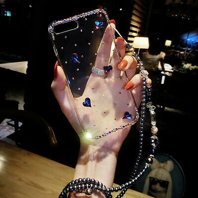Case For Huawei All Models Luxury Bling Glitter 3D Diamond Clear TPU Phone Cover