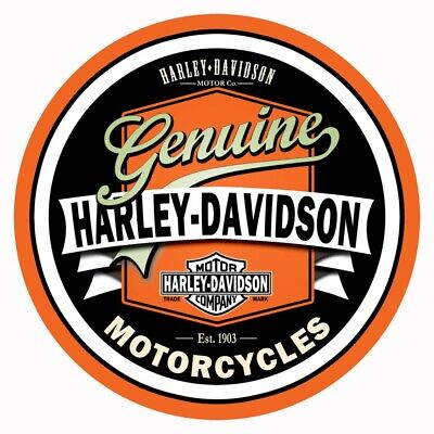 "Harley Davidson Vintage Style Decal, Sticker 7.25"" Diameter 3M Free Shipping"