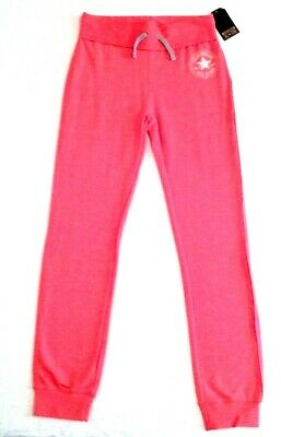 New Girls All Star Converse Joggers Jogging Bottoms Sweat Pants Pink 12-13 Years