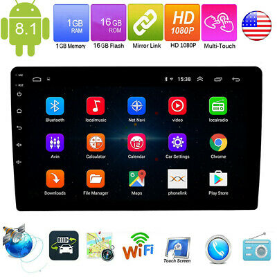 10.1'' Android 8.1 Bluetooth 2Din Touch Car MP5 Player Stereo Radio 2.5D Glass