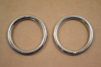 """O Ring - 1 1/2"""" - Nickel Plated - Wire Welded - Pack of 24 (F420)"""