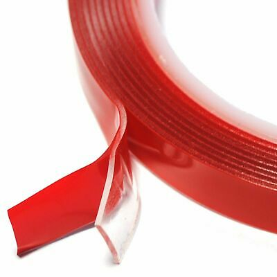 3m x 20mm Vehicle Double Sided Tape Clear Sticker Car Adhesive Acrylic Foam Tape