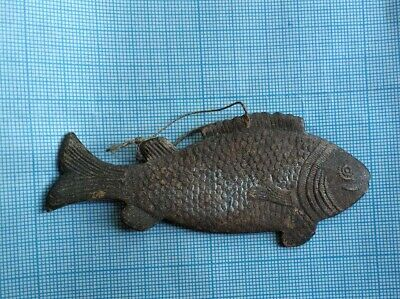 Antique German Dresden Victorian Fish Embossed Cardboard Xmas Ornament 1900