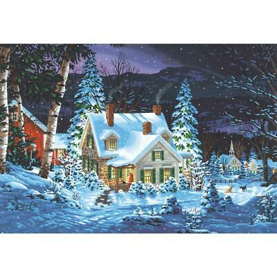 """PAINTWORKS Paint by Number Kit WINTER'S HUSH 20"""" x 14"""" DIMENSIONS"""