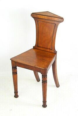 Small Antique Regency Mahogany Hall Chair -Georgian Victorian Kitchen Side Chair
