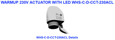 Warmup 230V Actuator With Led Whs-C-D-Cct-230Acl