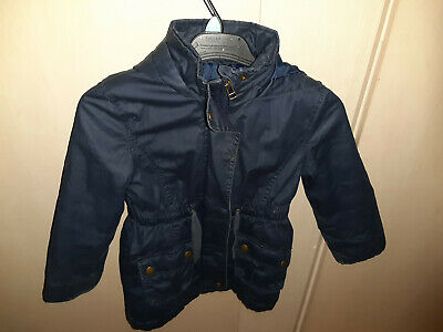 girls navy coat parka age 5-6 years  from Marks and Spencer