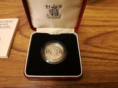 1983 United Kingdom SILVER Proof one pound £1 coin - 9.5g sterling