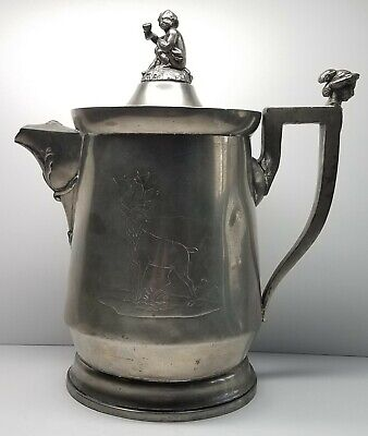 Antique Wilcox Silver Plate Co. 1854 Stimpson Patent Double Walled Pitcher 10.5""