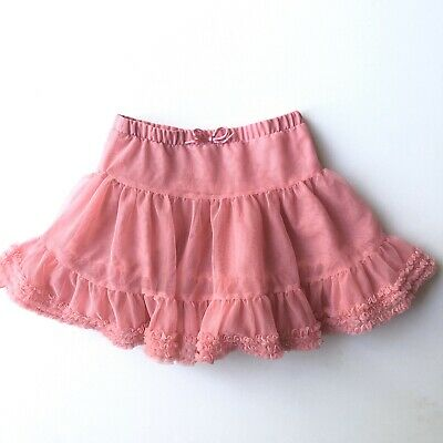 H&M Kids' Girls' Size 4-5Y Tulle Tutu Skirt Pink Pull On Elastic Waist Tiered