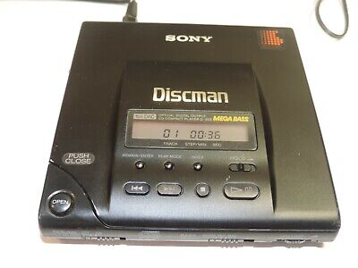 Vintage Sony Discman D-303 Cd Compact Player