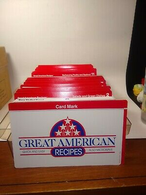 VINTAGE Cookbook 1980s GREAT AMERICAN RECIPES Recipe Cards BOX SET