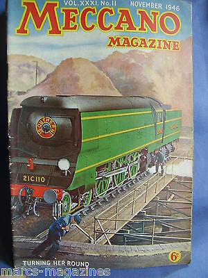 Meccano November 1946 Handley Page Hermes Turbomotive Lms Clyde Steamers