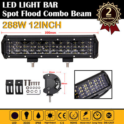 22in 288W LED Light Bar Spot Flood Work 4 Rows Offroad 4X4WD SUV Driving Lamp CI