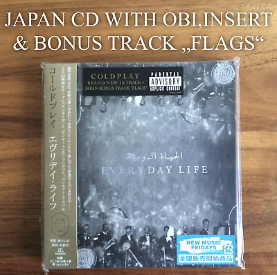 """Japan Only Bonus Track """"Flags""""! Coldplay Everyday Life Cd With Obi & Insert 2019"""