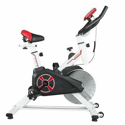 White Sports Spin Bike Aerobic Exercise Indoor Training Fitness Gym Spinning TH