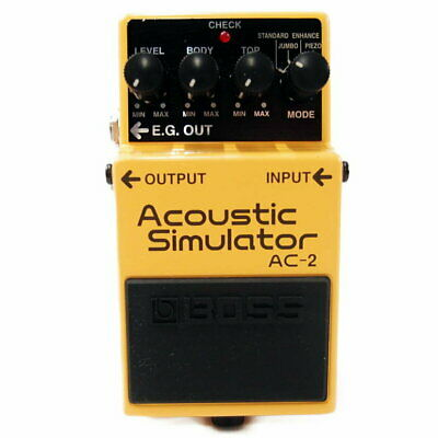Used Boss AC-2 Acoustic Simulator Effects Pedal  Guitar AC2 #17 Free shipping
