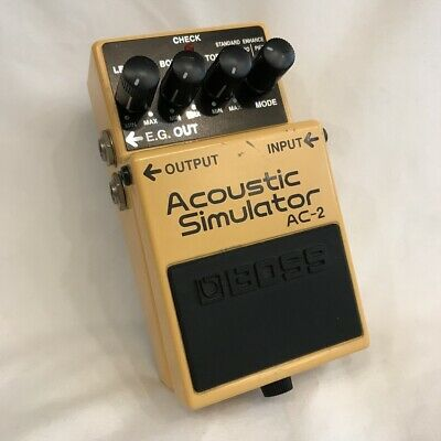 Used Boss AC-2 Acoustic Simulator Effects Pedal  Guitar AC2 #18 Free shipping
