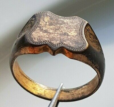 Perfect OLD GOLD PLATED BRONZE RING