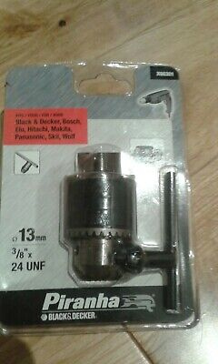 black decker genuine chuck & key male 3/8ths thread fits all the old drills