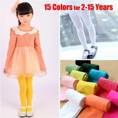 Kids Children Hosiery Girls Ballet Socks Tights Pantyhose Stockings Candy Color