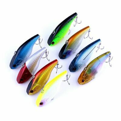 1/8PCS Fashion Bass Tackle Crank Crankbait Fishing Lure Minnow Bait Hooks