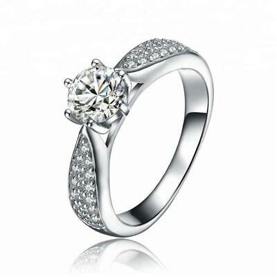 Classic Sterling Silver Cubic Zirconia Engagement Ring