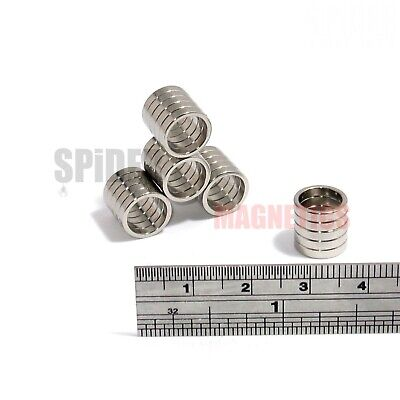 Very Strong N52 Magnet Neodymium Ring 23mm dia x 20mm 6mm neo magnet 23//6//20mm