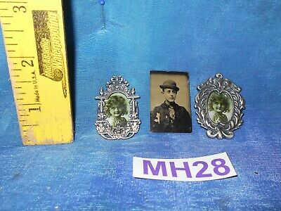 Vintage Dollhouse Doll House Lot: Victorian Antique 1880s Tintype, Art MH28