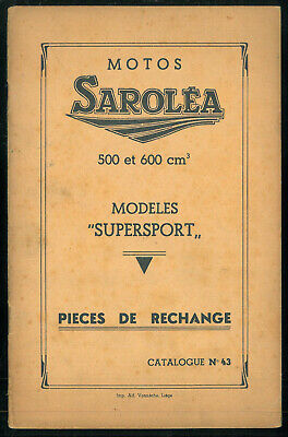 Catalogue de Pièces Motos SAROLEA Supersport 500 cc 38S /R et 600 cc 38 S6 / R6