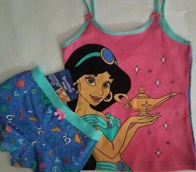 DISNEY PRINCESS JASMINE Licensed Girl singlet cami & shortie set sizes 2-3 , 3-4
