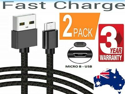 2x Micro USB Charger Cable Charging line 1M 2M For Mobile Android Samsung Galaxy