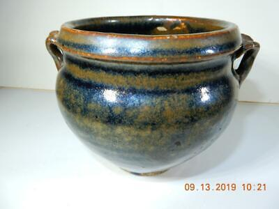 Antique Chinese2 handled pot Black glazed Yuan Laio Dynasty 12th century