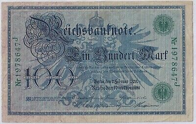 1908 Germany Banknote - 100 Marks - 111 YEARS OLD