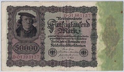 1922 Germany Banknote - 50,000 Marks - 97 YEARS OLD