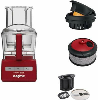 Magimix Compact 3200 XL Red, Food Processor with 3 Optional Items