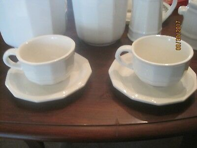 Pfaltzgraff Heritage White -   CUP AND SAUCER  4 SETS AVAILABLE