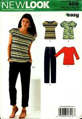 New Look Sewing Pattern 6216 Womens Tops Pants Size 8-18 NEW