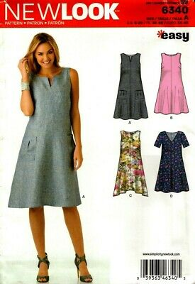 New Look Sewing Pattern 6340 Womens Dress Size 8-20 NEW