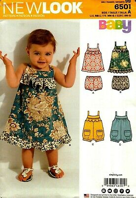New Look Sewing Pattern 6501 Baby Dress Romper Bloomers Size NB-L NEW