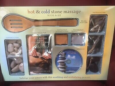 Hot & Cold Stone Massage Therapy Book Ernesto Ortiz, LMT, CST & Kit - Oceania CD