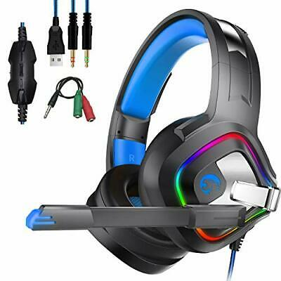 PS4 Xbox One Cuffie Gaming, Headset Auricolare Gioco Stereo con Microfono, Deep