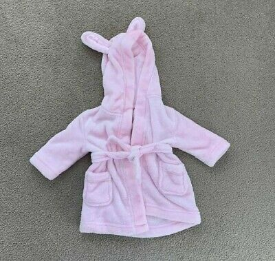 Baby girl Target pink Easter bunny Dressing Gown size 0