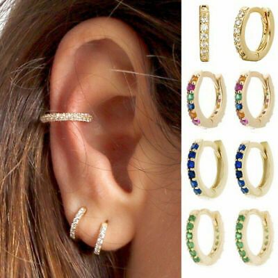 Cartilage Helix Tragus Daith  Hoop Earring Nose Ring CZ Ear Piercing Jewelry