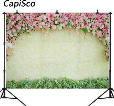 Rose Flowers Backdrops for Wedding Baby Shower Party Photography Backgrounds