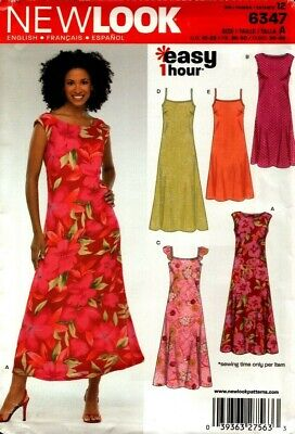 New Look Sewing Pattern 6347 Womens Dress Sewing Pattern Size 10-22 NEW