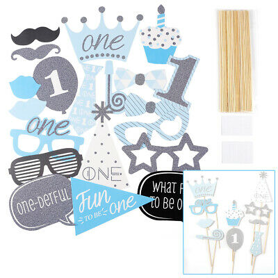 Baby Shower Its A Boy Photo Booth Props 20Pcs Party Favor Funny Decoration Game
